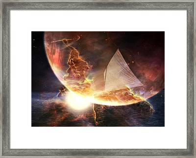 Space Ship Framed Print