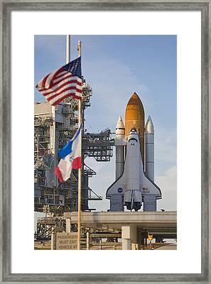 Space Shuttle Atlantis Sitting Framed Print by Mike Theiss