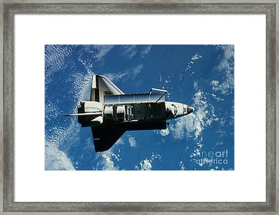 Space Shuttle Challenger Framed Print by Granger