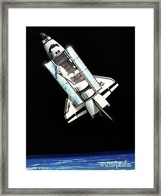 Space Shuttle Challenger  Framed Print by Joe Roselle
