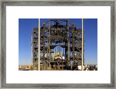 Space Shuttle Endeavour Edwards Air Force Base Framed Print by Brian Lockett