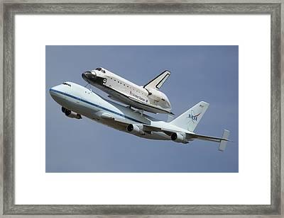 Space Shuttle Endeavour Over Lax September 21 2012 Framed Print