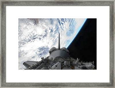 Space Shuttle Endeavours Payload Bay Framed Print by Stocktrek Images