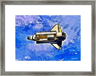 Space Shuttle In Space - Pa Framed Print