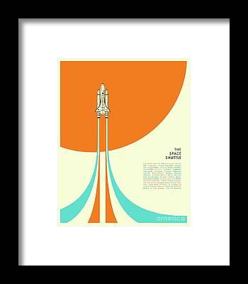 Space Ships Framed Prints