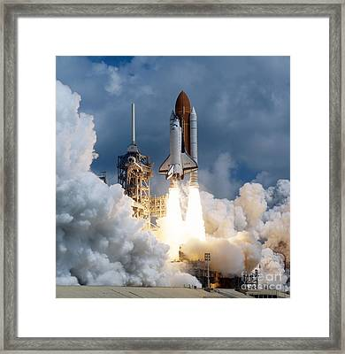 Space Shuttle Launching Framed Print by Stocktrek Images