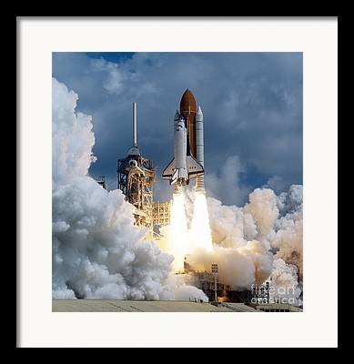 Rocket Boosters Framed Prints