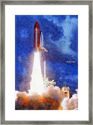 Space Shuttle - Pa Framed Print by Leonardo Digenio