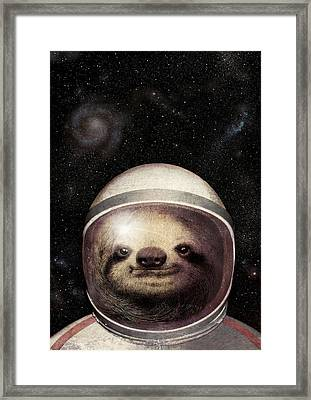 Space Sloth Framed Print by Eric Fan