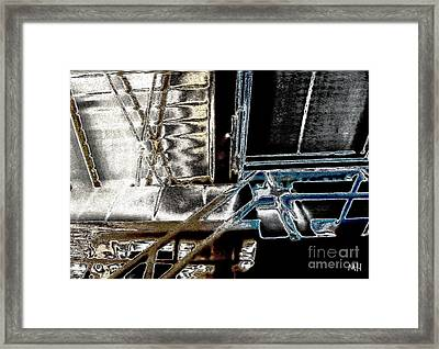 Framed Print featuring the digital art Space Station by Marsha Heiken