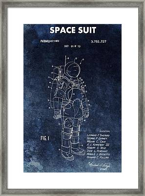 Space Suit Patent Illustration Framed Print by Dan Sproul