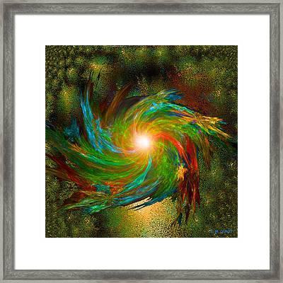Space Swirl Framed Print