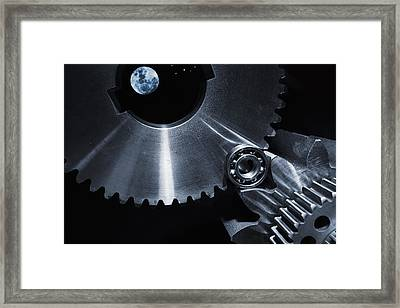 Space Technology And Titanium Parts Framed Print by Christian Lagereek