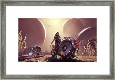 Space The Final Frontier Framed Print by Lawrence Christopher