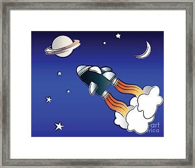 Space Travel Framed Print by Jane Rix