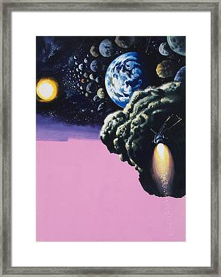 Space Framed Print by Wilf Hardy