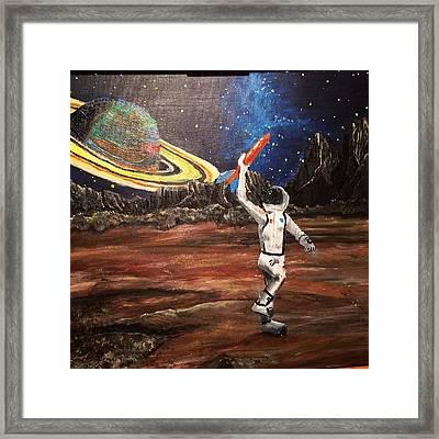 Spaceboy Framed Print