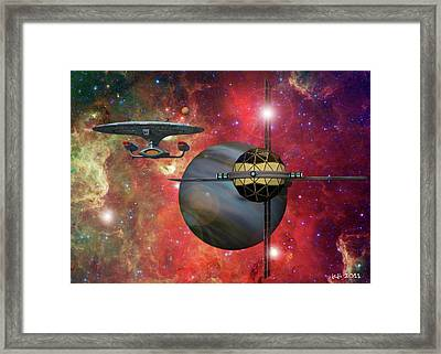 Spaceliner Opulence Framed Print