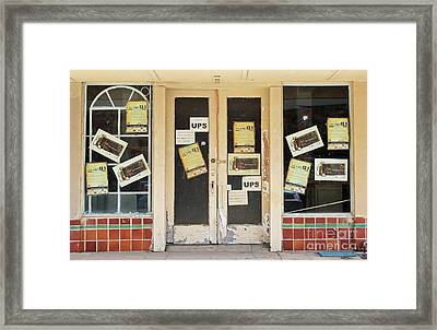 Spaces Still Available Framed Print