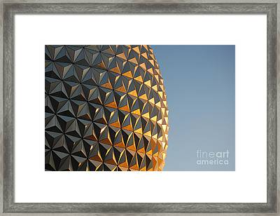 Spaceship Earth Sunset Profile Epcot Walt Disney World Prints Framed Print