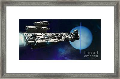 Spaceship To Neptune Framed Print by Corey Ford