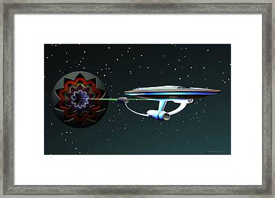 Space...the Final Frontier Framed Print by Walter Oliver Neal