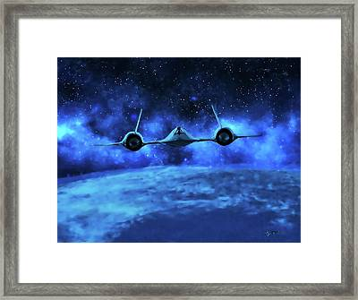 Spaceward Framed Print by Dave Luebbert