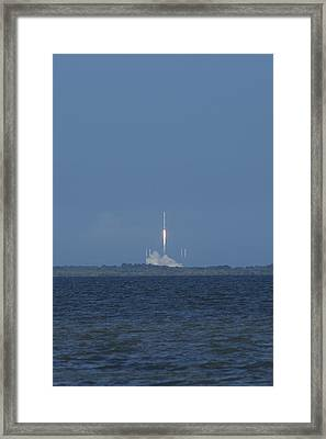 Spacex Crs6 Liftoff Framed Print