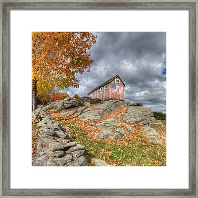 Spacious Skies Square Framed Print by Bill Wakeley