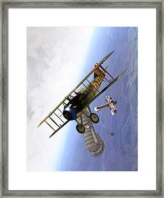 Spad Balloon Cap Framed Print