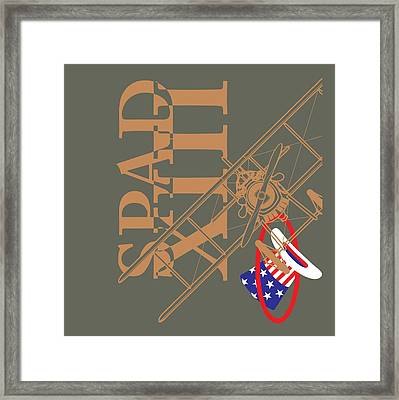 Spad Xiii Hat In The Ring Framed Print
