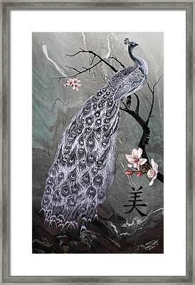 Spades Peacock Framed Print