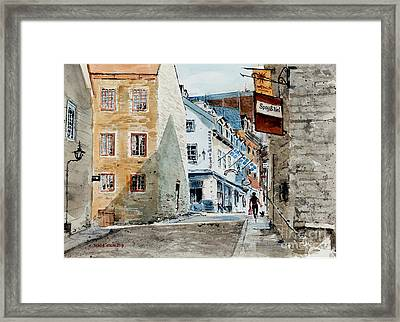 Spag And Tini Framed Print by Monte Toon