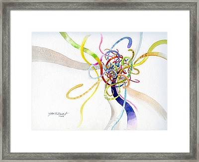 Framed Print featuring the painting Spaghetti Abstract by John Norman Stewart