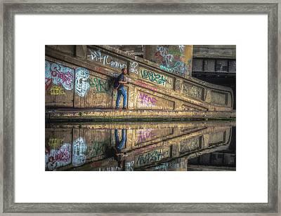 Spaghetti Junction No 5 Framed Print by Chris Fletcher