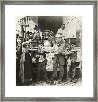 Spaghetti Vendor, C1908 Framed Print by Granger