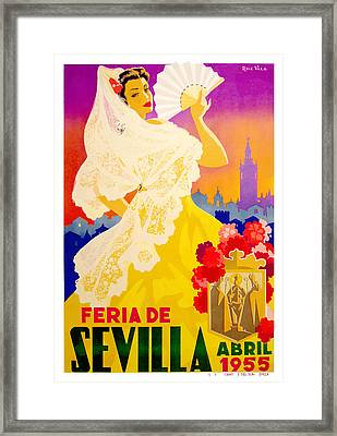 Spain 1955 Seville April Fair Poster Framed Print