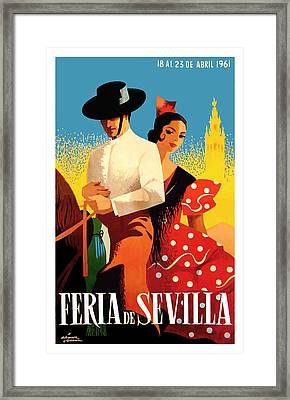 Spain 1961 Seville April Fair Poster Framed Print