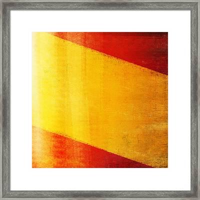 Spain Flag Framed Print by Setsiri Silapasuwanchai