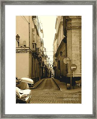 Spain Streets Framed Print by Carly Athan