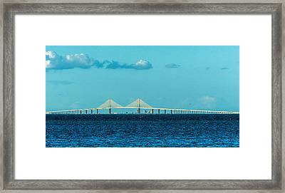 Span Over St. Petersburg Framed Print by Marvin Spates