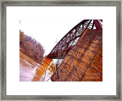 Span The Brazos Framed Print by Chuck Taylor