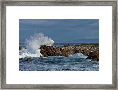 Spanish Bay Golf Ocean Wave Framed Print