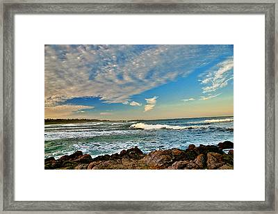 Framed Print featuring the painting Spanish Bay Sunrise by Larry Darnell