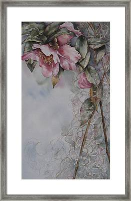 Framed Print featuring the painting Spanish Camellias by Mary McCullah