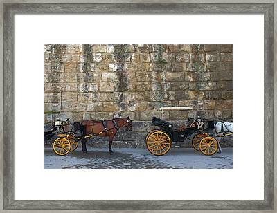 Spanish Carriage Framed Print