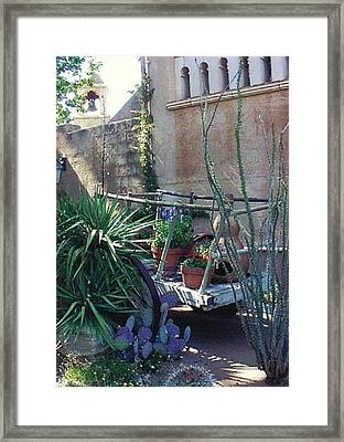 Spanish Cart Framed Print by Fred Wilson