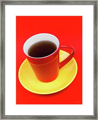 Spanish Cup Of Coffee Framed Print by Wim Lanclus