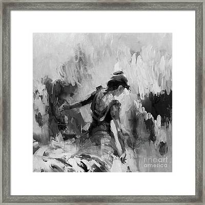Framed Print featuring the painting Spanish Dance 7734j by Gull G