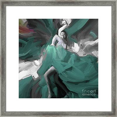 Framed Print featuring the painting Spanish Dance Art 56yt by Gull G